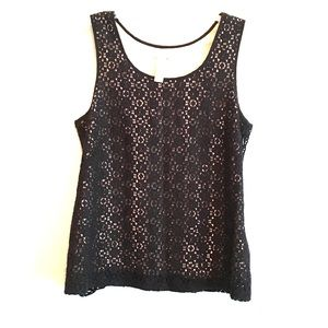 J. Crew black lace tank top 2